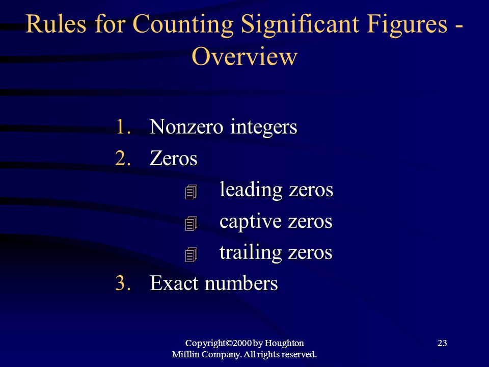Rules for Counting Significant Figures - Overview