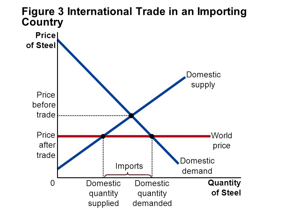 Figure 3 International Trade in an Importing Country