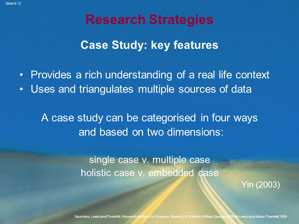 Case Study: key features