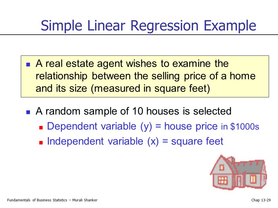 Simple Linear Regression Example