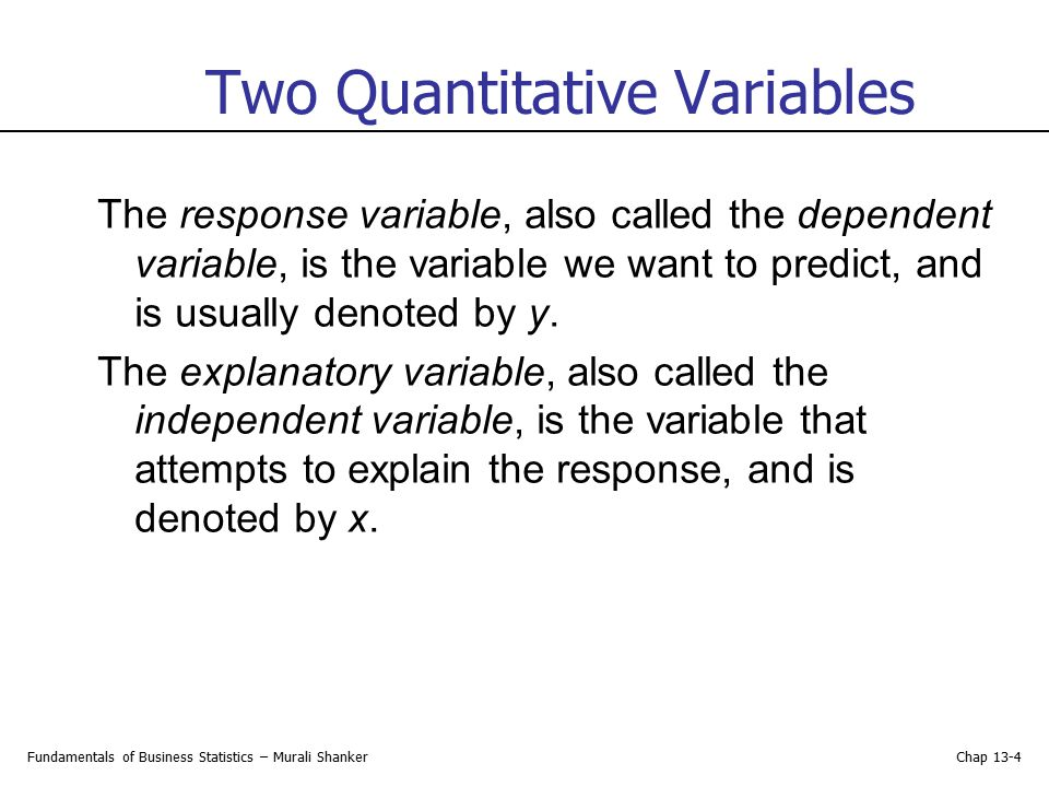 Two Quantitative Variables