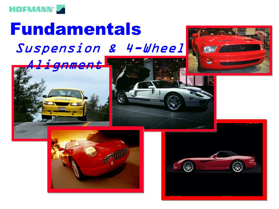Fundamentals Suspension & 4-Wheel Alignment