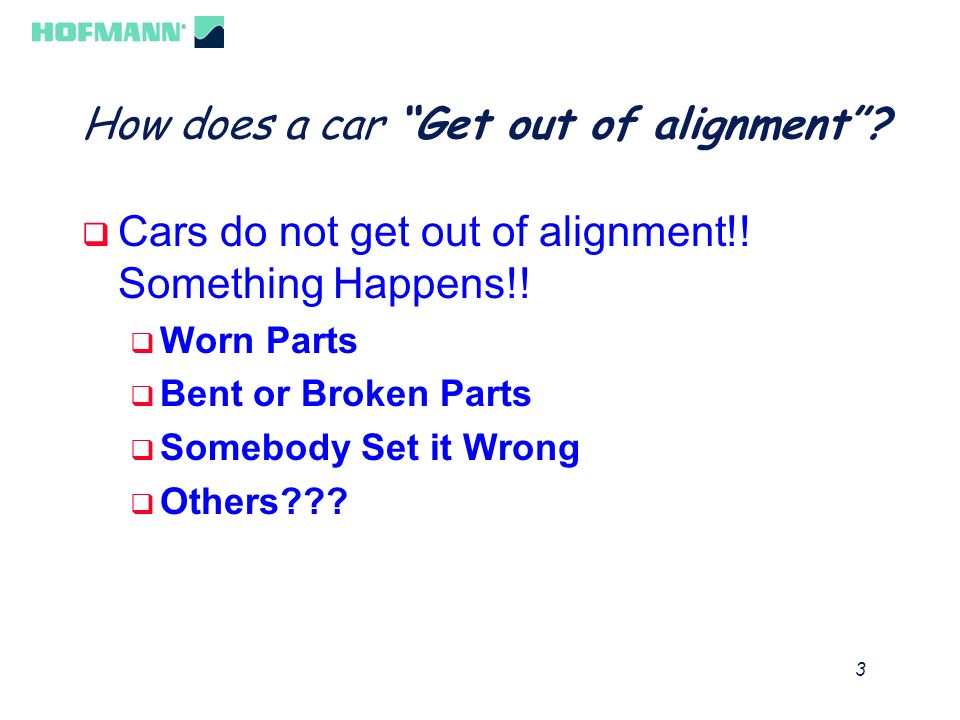 How does a car Get out of alignment