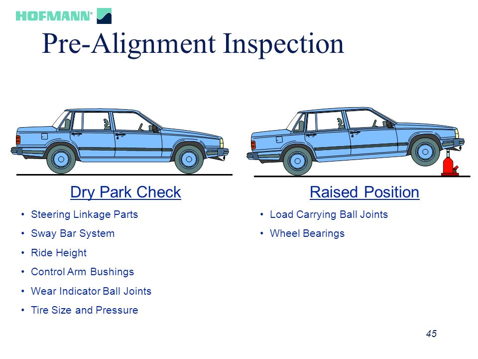 Pre-Alignment Inspection