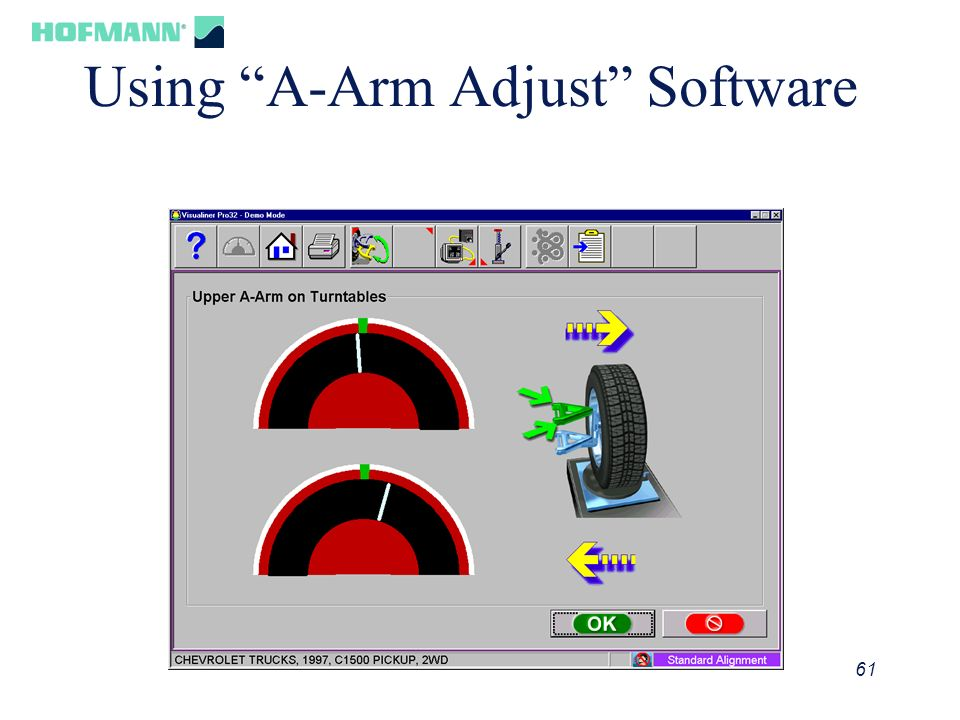 Using A-Arm Adjust Software