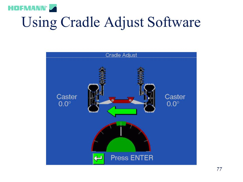 Using Cradle Adjust Software