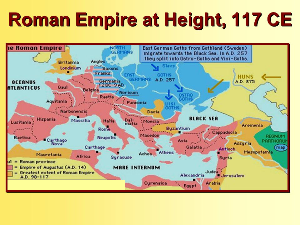 Height Of The Roman Empire Map.Rome An Introduction Ppt Download