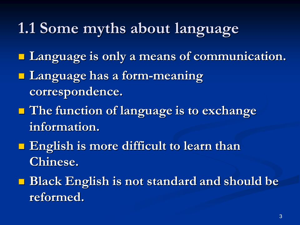 Invitations to linguistics ppt download 11 some myths about language stopboris Choice Image
