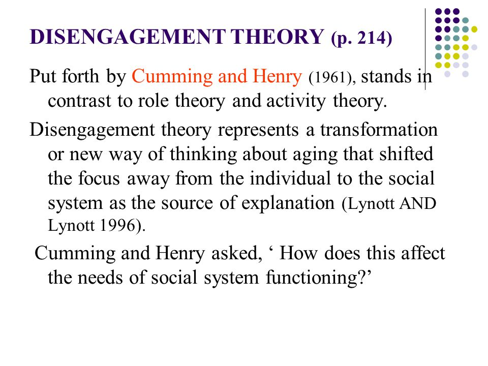 disengagement theory definition