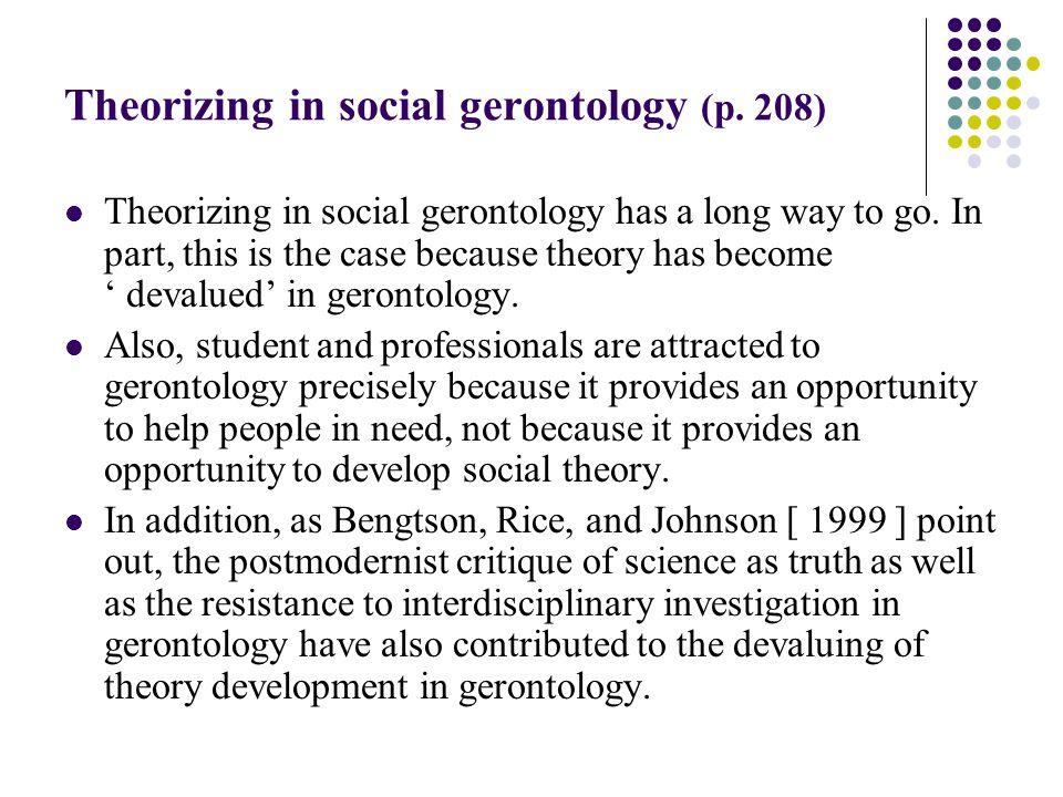 social gerontology theories