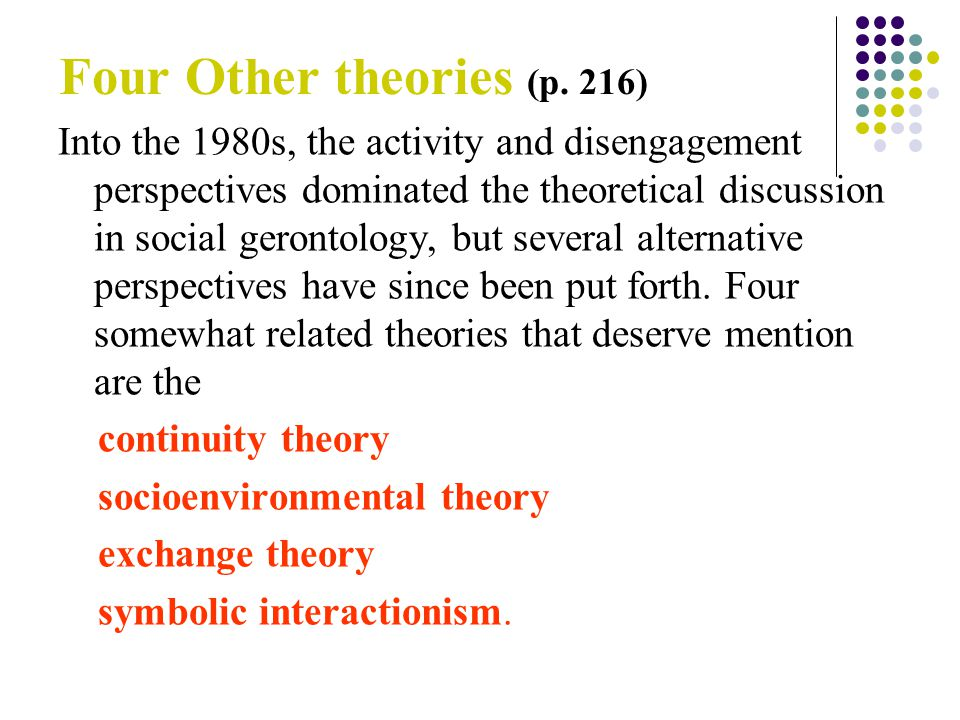 social disengagement theory definition