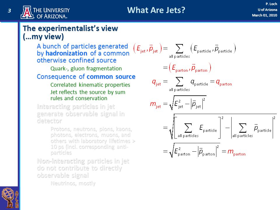 What Are Jets The experimentalist's view (…my view)