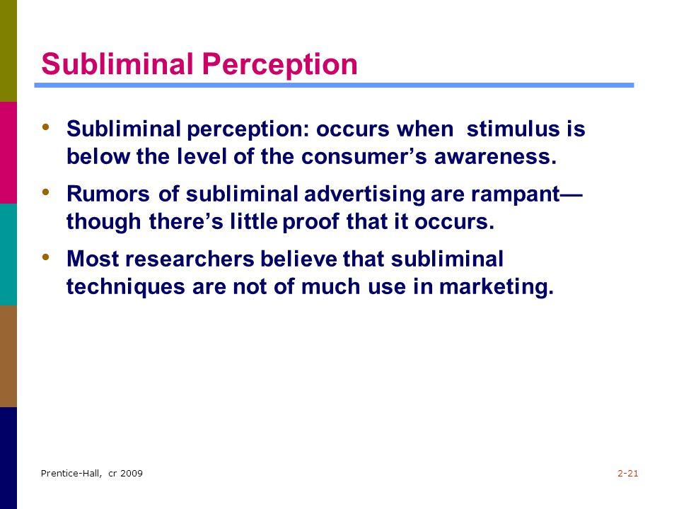 subliminal stimuli psychology