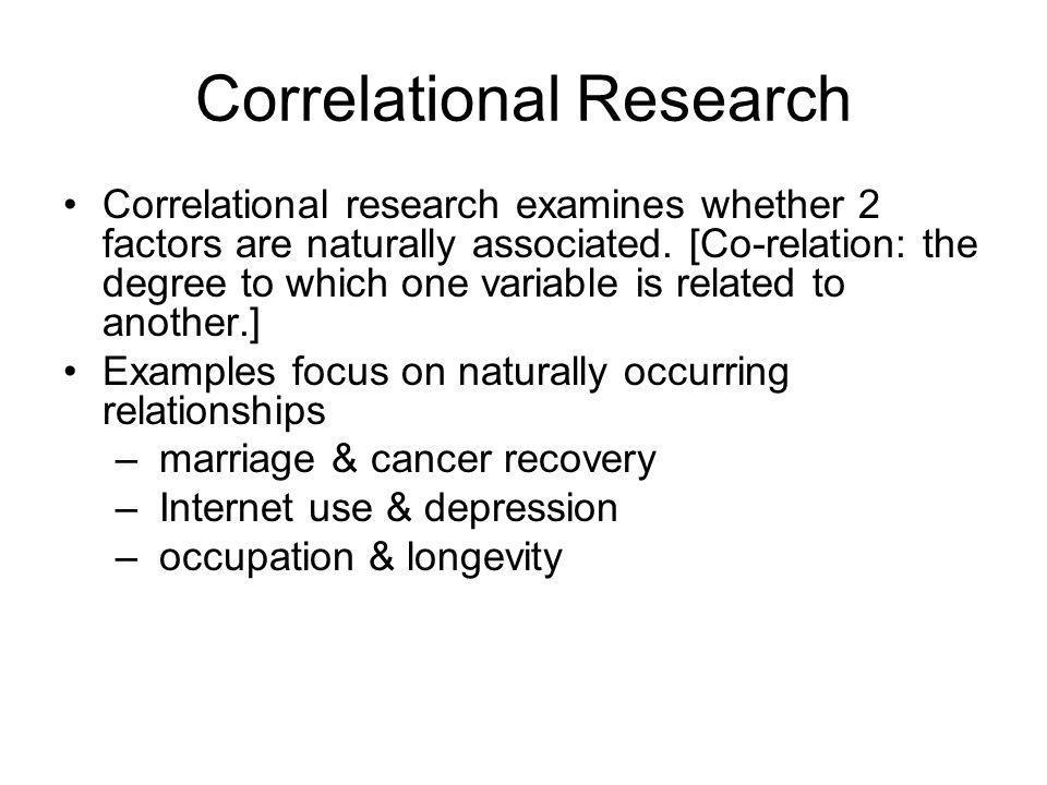 correlational research ideas