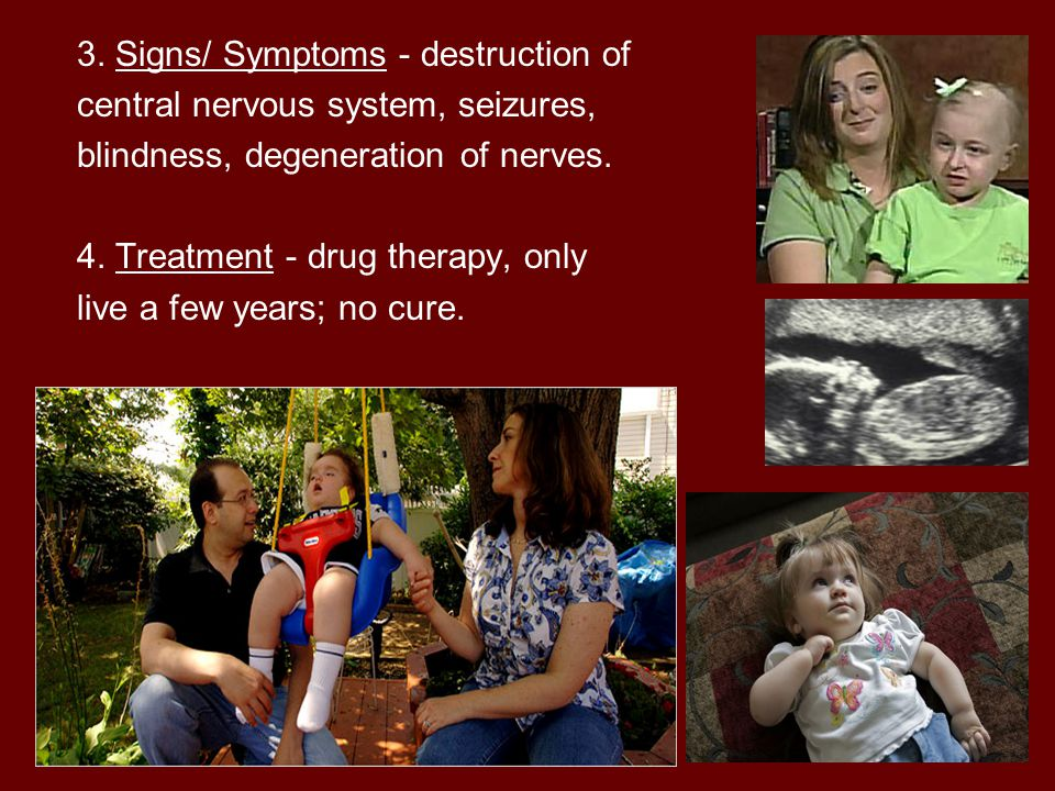 3. Signs/ Symptoms - destruction of