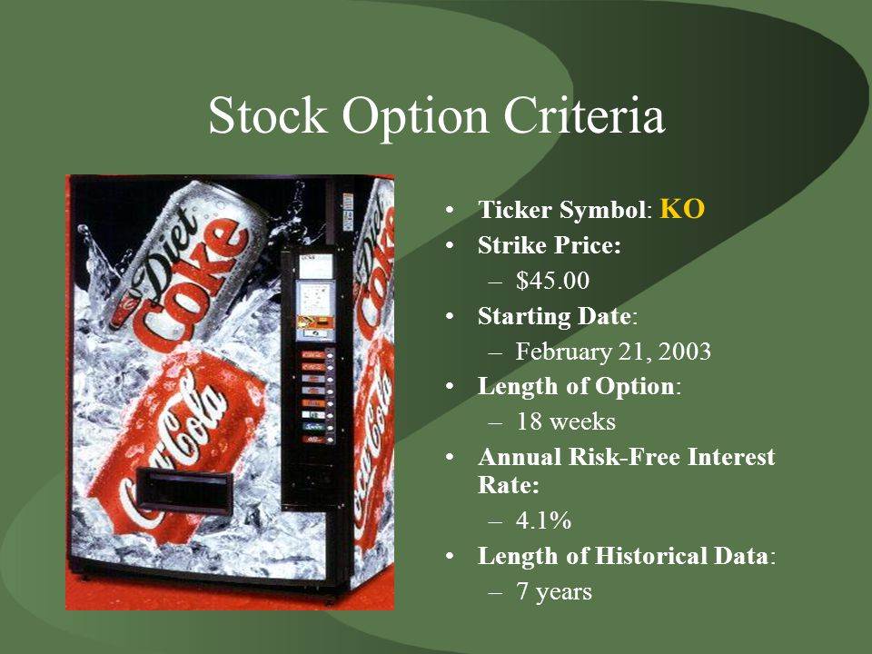 Coca Cola Stock Option Ppt Download