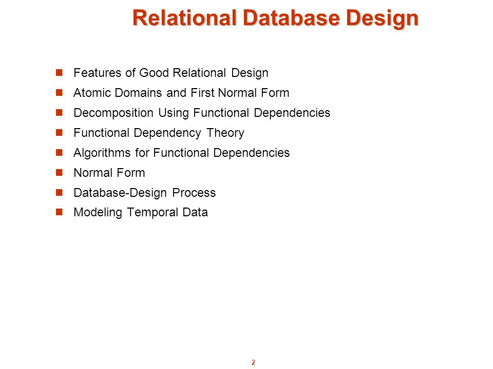 features of good database design in dbms