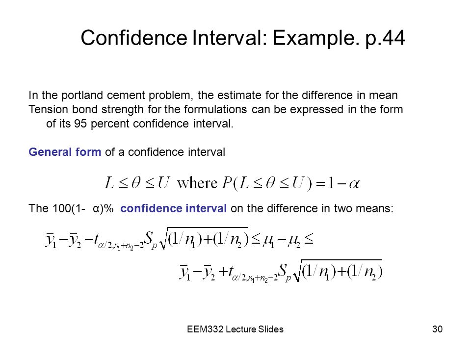 Confidence Interval: Example. p.44