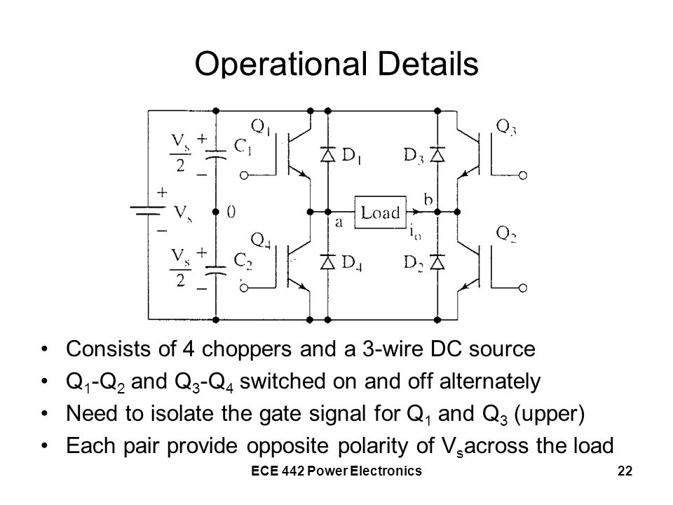 Operational Details Consists of 4 choppers and a 3-wire DC source