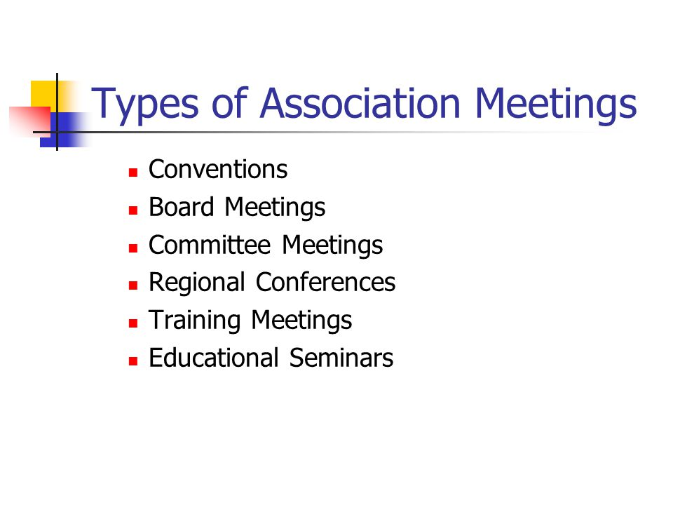 Types of Association Meetings