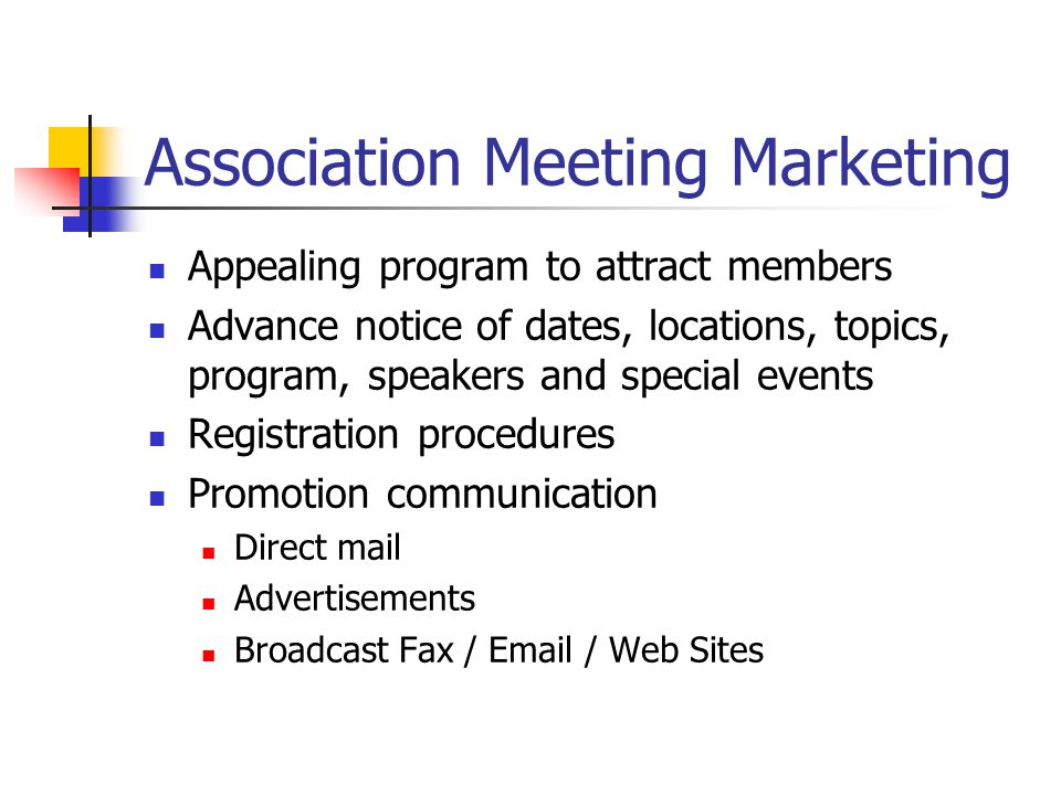 Association Meeting Marketing