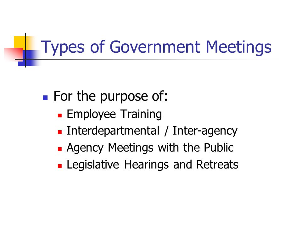 Types of Government Meetings