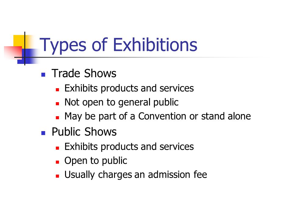 Types of Exhibitions Trade Shows Public Shows