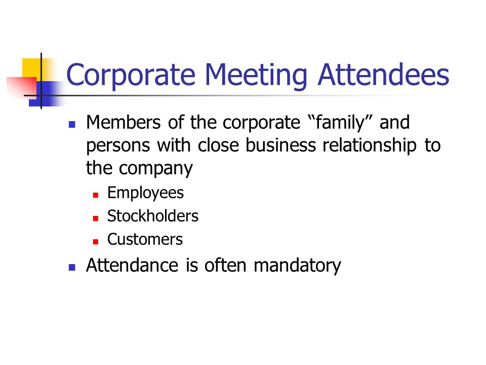Corporate Meeting Attendees