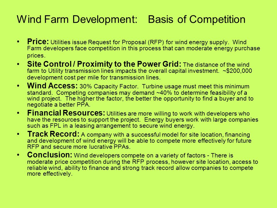 Commercial Wind Farm Development - ppt video online download
