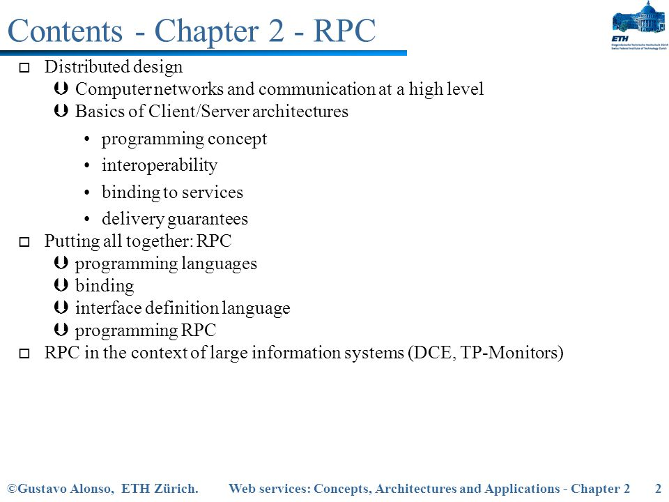 Contents - Chapter 2 - RPC