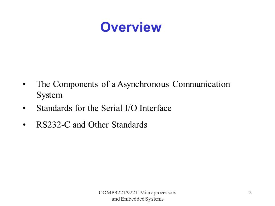 microprocessor and embedded system pdf