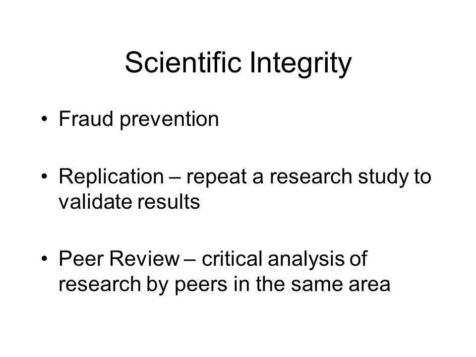 Scientific Integrity Fraud prevention