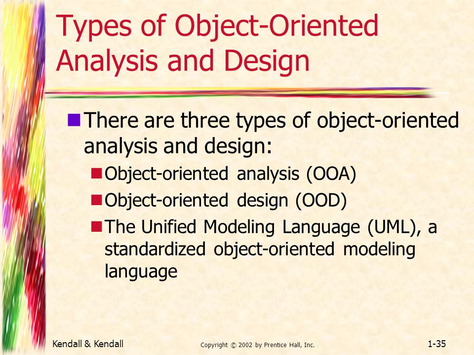 Types of Object-Oriented Analysis and Design