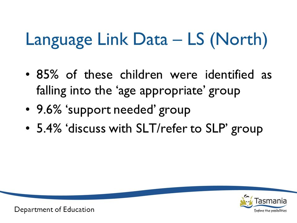 Language Link Data – LS (North)