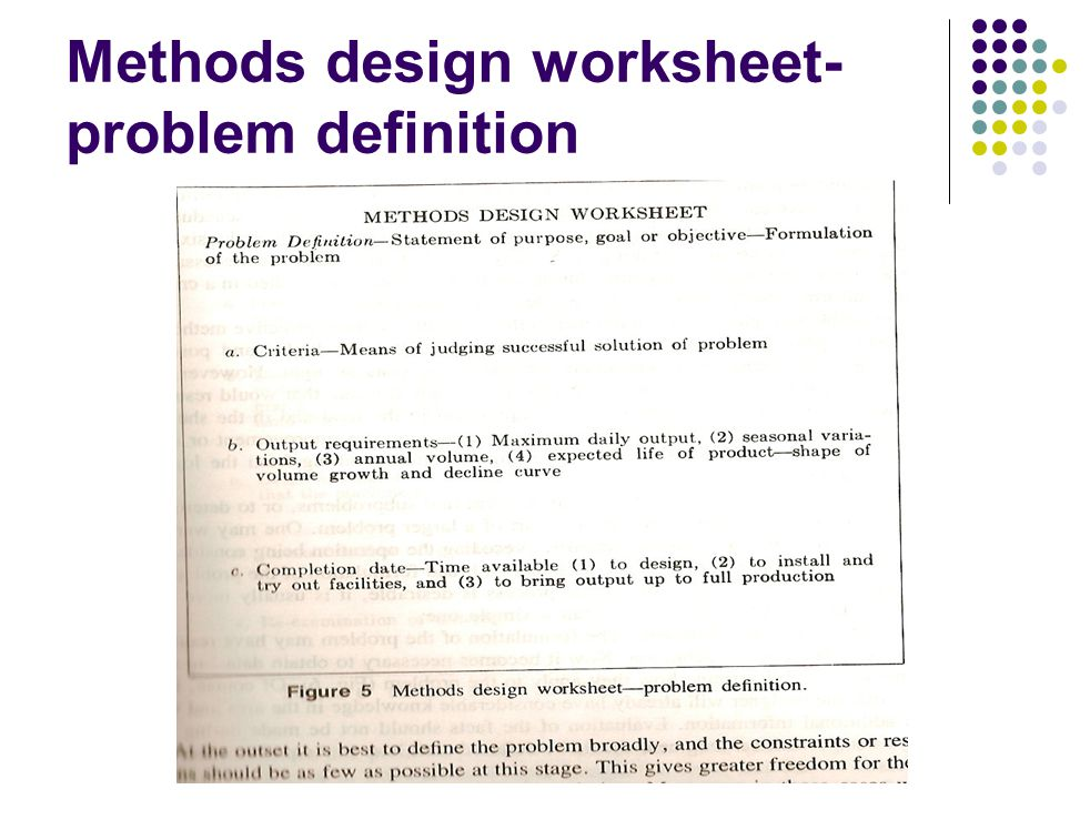 Work Study Week Ppt Video Online Download. 21 Methods Design Worksheetproblem Definition. Worksheet. Worksheet Design Definition At Clickcart.co