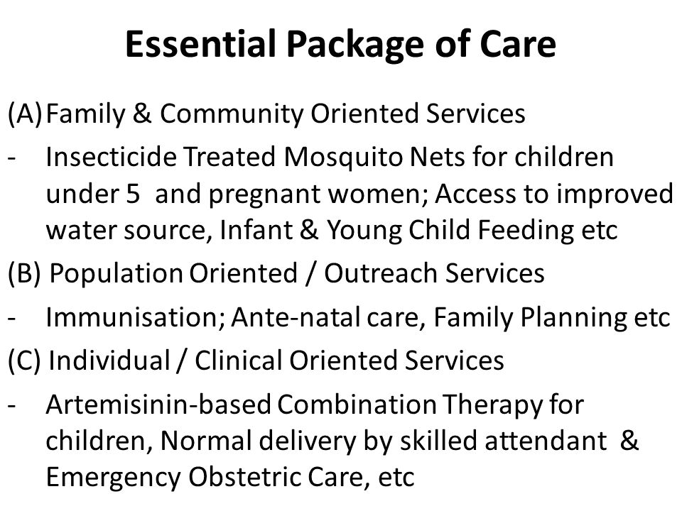 Essential Package of Care