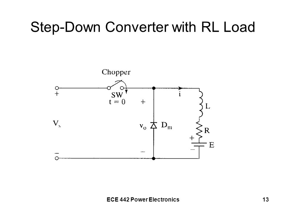 Step-Down Converter with RL Load