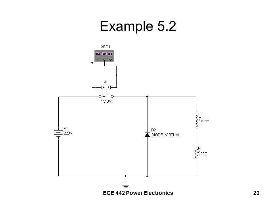 Example 5.2 ECE 442 Power Electronics