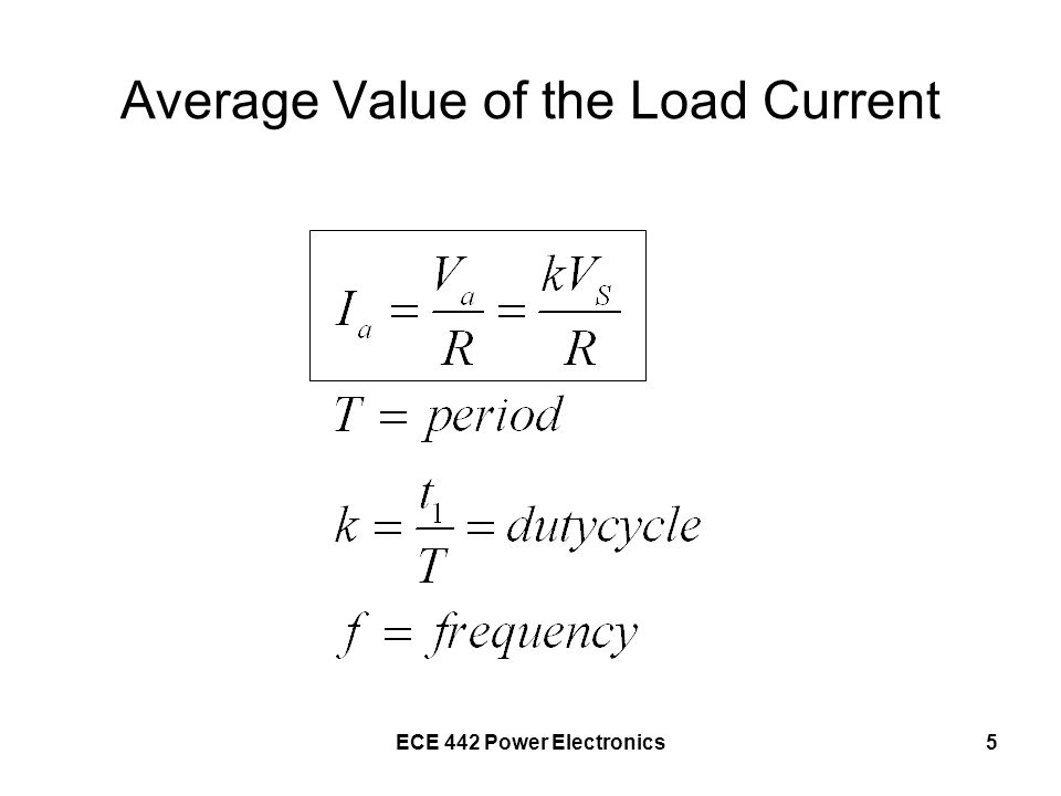 Average Value of the Load Current