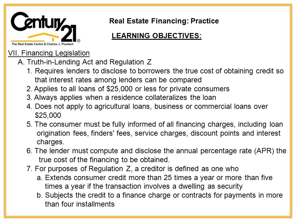 Real Estate Financing: Practice
