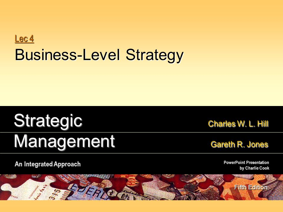 Lec 4 Business-Level Strategy