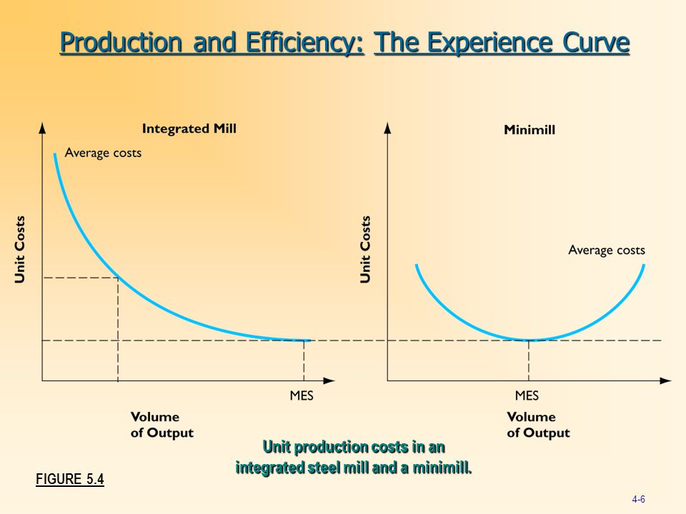 Production and Efficiency: The Experience Curve