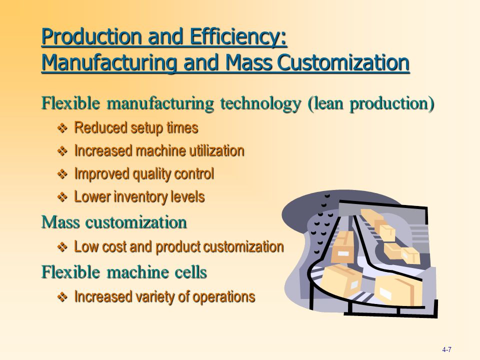 Production and Efficiency: Manufacturing and Mass Customization