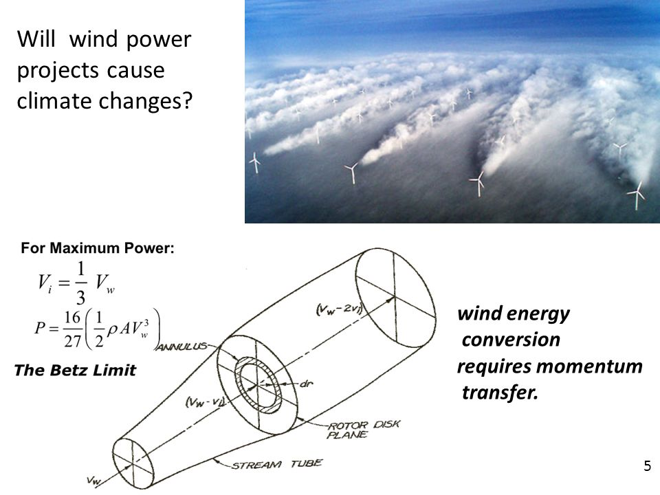 Will wind power projects cause climate changes wind energy conversion