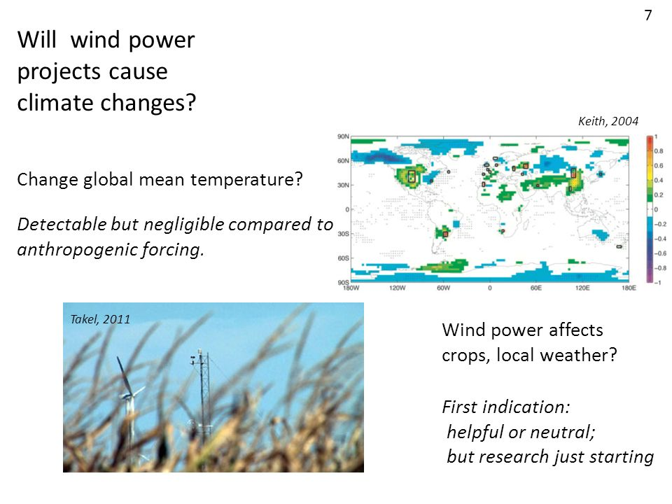 Will wind power projects cause climate changes