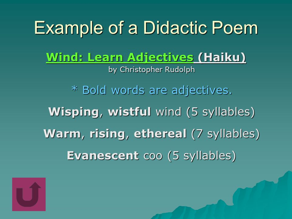 didactic example