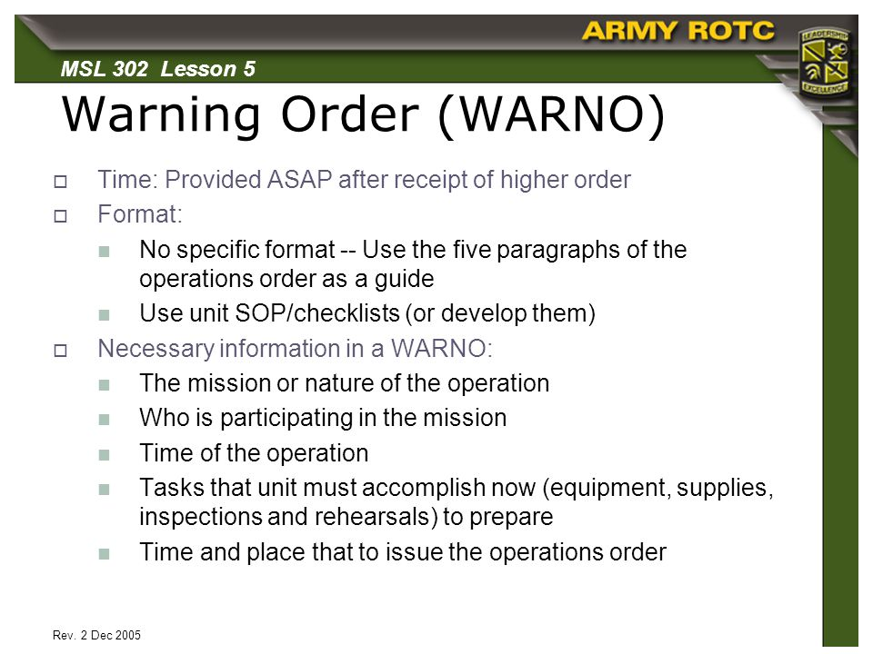 Call for fire ppt video online download for Usmc warning order template