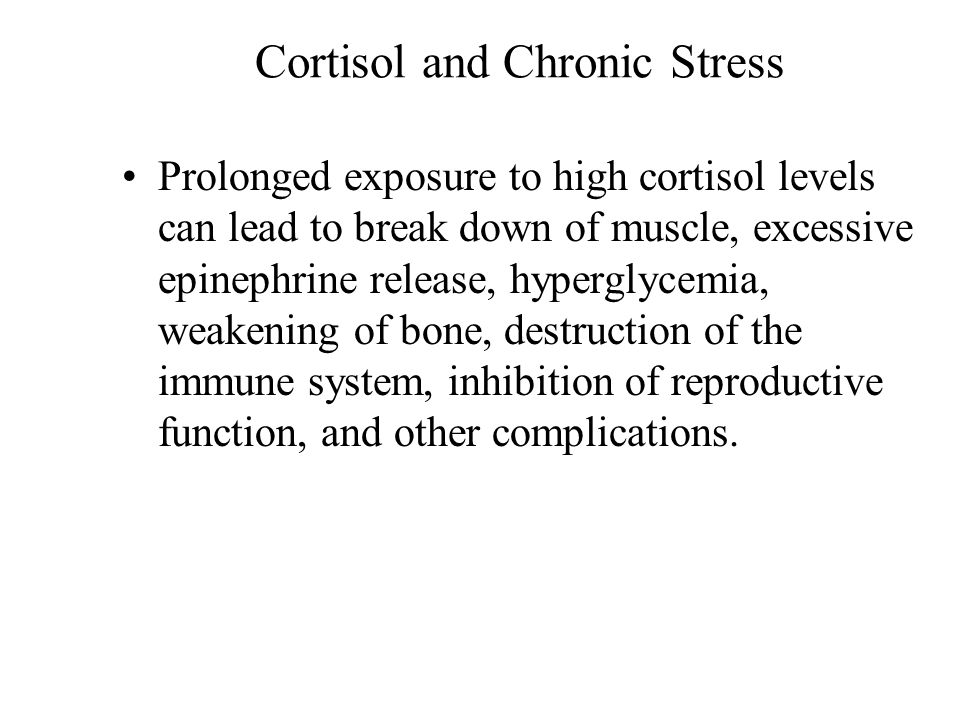 Cortisol and Chronic Stress