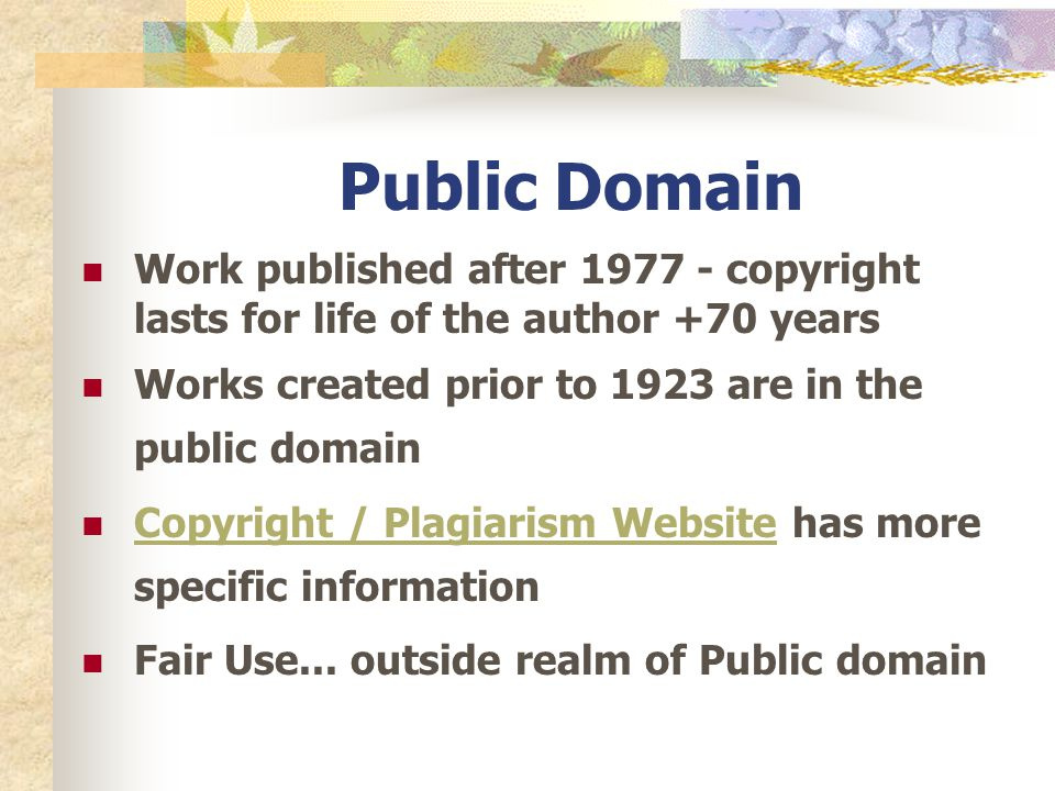 how to credit work that is public domain