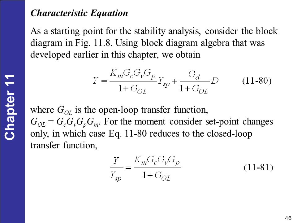 Dynamic Behavior And Stability Of Closed Loop Control Systems Ppt